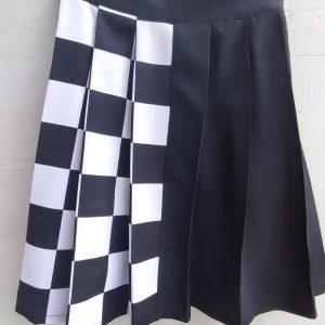 checkered skirt black white gonna quadri bianca e nera