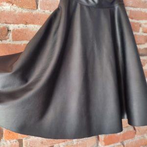 black echo leather skirt