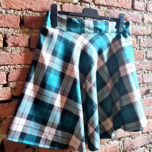 skirt gonna tartan scozzese verde chiaro scuro light green dark green