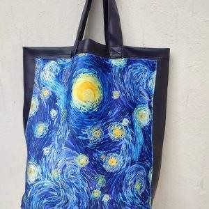 van-gogh bag eco leather blue